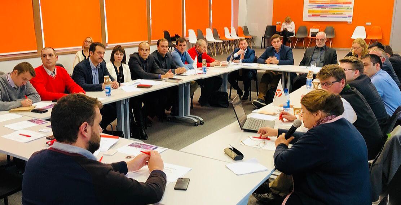 7 ноября 2018 года в ИКЦ на базе Ассоциации предпринимателей Калужской области состоялся круглый стол с Немецкими предпринимателями в области сельского хозяйства, в котором приняла участие Абраменко Ольга.